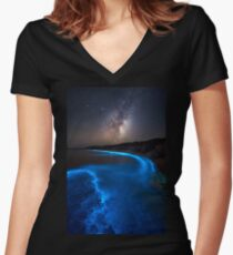 Milky Bioluminescence - 2nd Edition Women's Fitted V-Neck T-Shirt