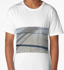 Different types of pavements on the sidewalk and the street Long T-Shirt
