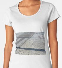 Different types of pavements on the sidewalk and the street Women's Premium T-Shirt