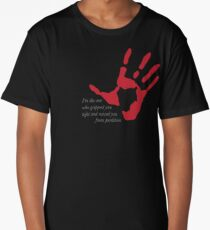 "Hand on Heart - ""I'm the one who gripped you tight and raised you from perdition"" Long T-Shirt"