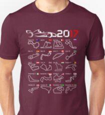 Calendar F1 2017 circuits Unisex T-Shirt