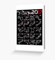 Calendar F1 2017 circuits Greeting Card