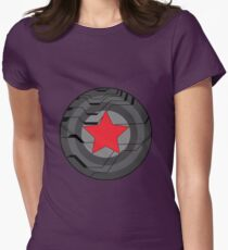 winter soldier shield  Womens Fitted T-Shirt
