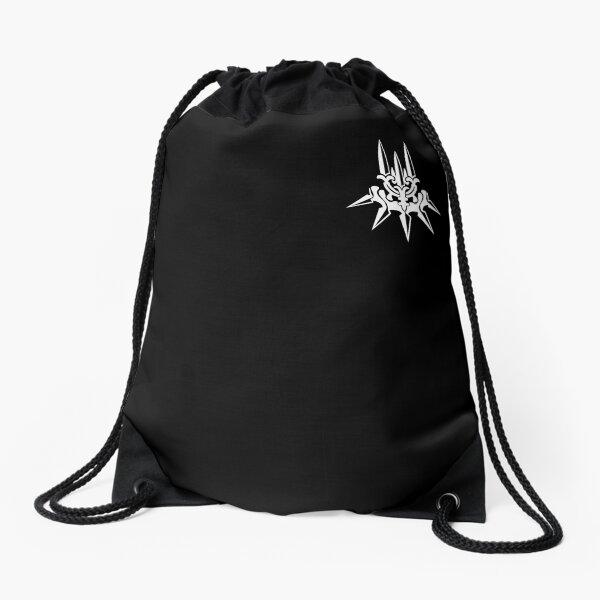 YoRHa - White Insignia - Corner print Drawstring Bag