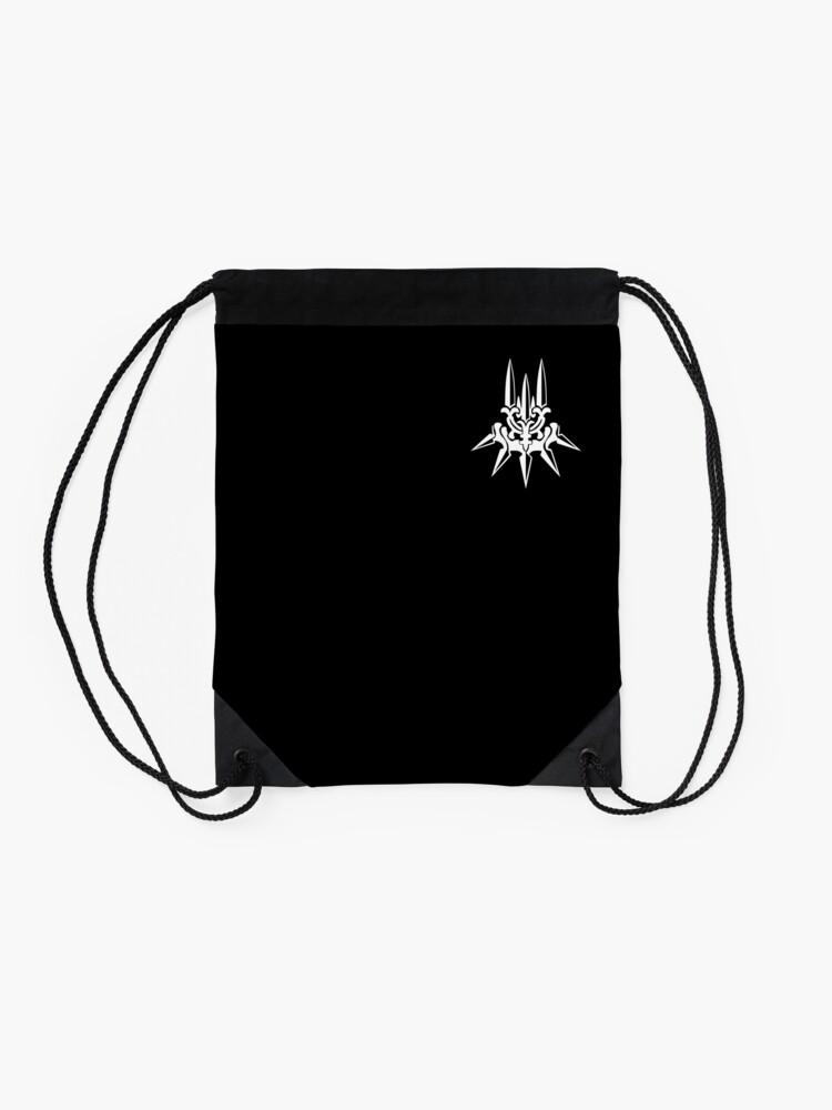 Alternate view of YoRHa - White Insignia - Corner print Drawstring Bag