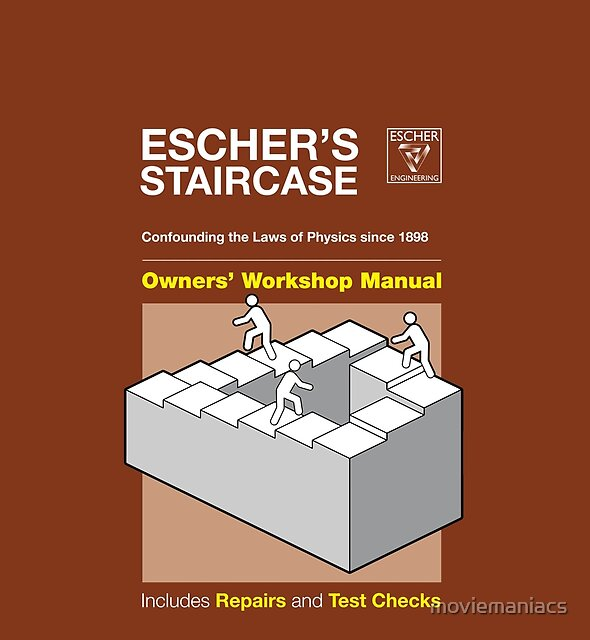 Owners Manual cover - Escher's Staircase by moviemaniacs