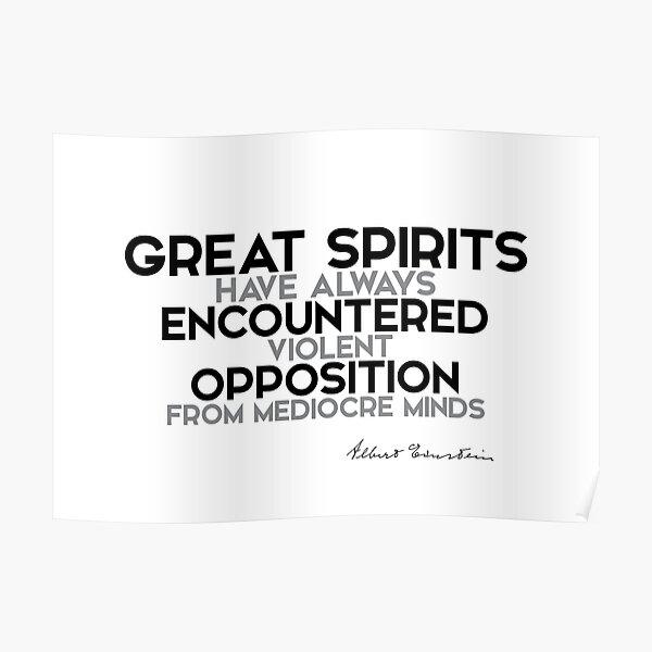 great spirits encountered opposition - einstein Poster
