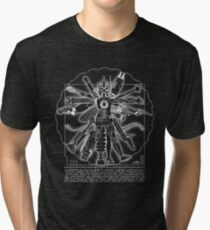 Vitruvian Machine (White) Tri-blend T-Shirt