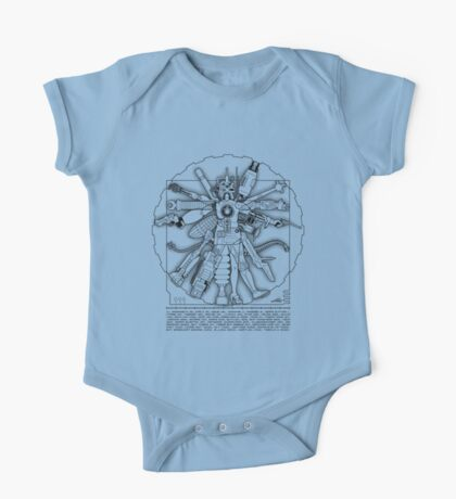 Vitruvian Machine (Black) Kids Clothes