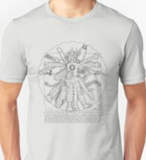 Vitruvian Machine (Gray) Unisex T-Shirt