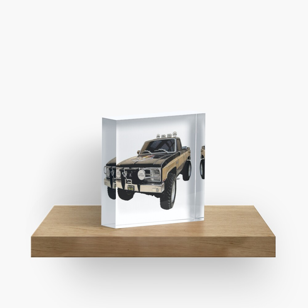 The Fall Guy - GMC Sierra Grande Acrylic Block