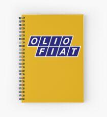 Olio Fiat - Blue/White Spiral Notebook