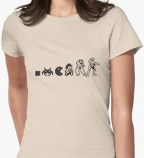 Resolution Evolution - A Quick Video Game History Women's Fitted T-Shirt
