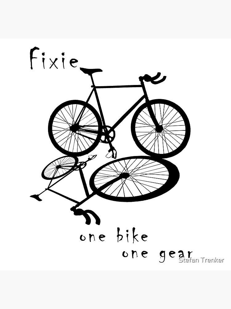 Fixie - one bike one gear (black) by stetre76