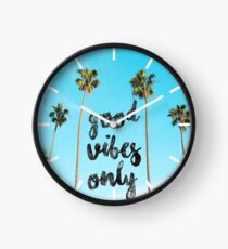 Good LA Vibes Only #redbubble Clock