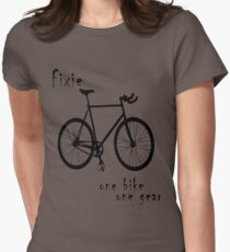 Fixie - one bike one gear Fitted T-Shirt