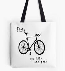 Fixie - one bike one gear Tote Bag