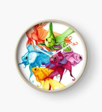 Fancy Fishes Clock