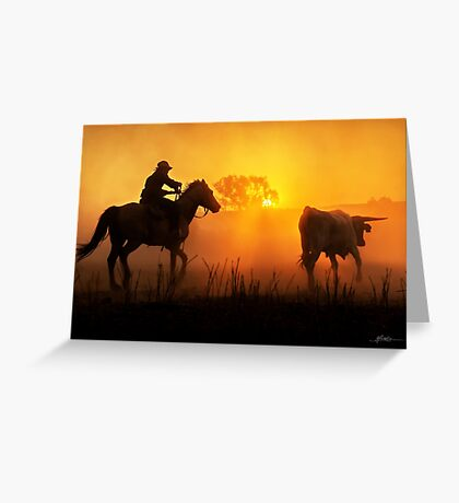 Sunset Muster Greeting Card