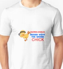 Trigeminal Neuralgia Messed with the Wrong Chick Unisex T-Shirt