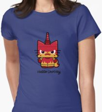 Hello (Angry) Unikitty Women's Fitted T-Shirt