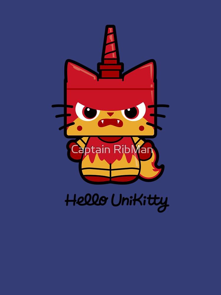 TShirtGifter presents: Hello (Angry) Unikitty | Women's T-Shirt