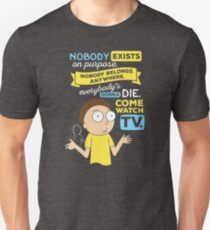 Rick and Morty Nobody Exists on Purpose Unisex T-Shirt