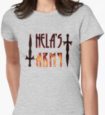 Hela's army Womens Fitted T-Shirt