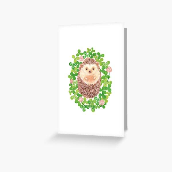 Hedgehog in cloverfield Greeting Card