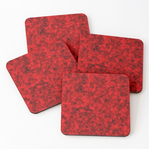 Red and black Coasters (Set of 4)