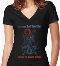 God of the Bloody Tongue Women's Fitted V-Neck T-Shirt