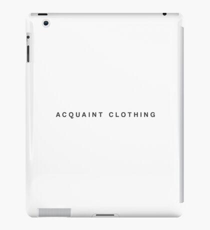 Acquaint Clothing Words - Dark Version iPad Case/Skin