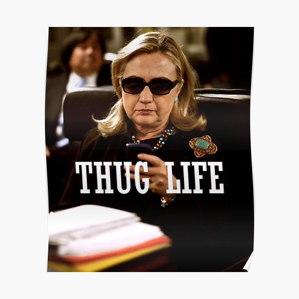 Throwback - Hillary Clinton Poster