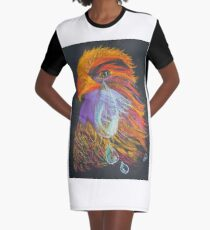 Tears of a Phoenix Graphic T-Shirt Dress