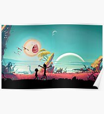 Rick and Morty in No Man's Sky Poster