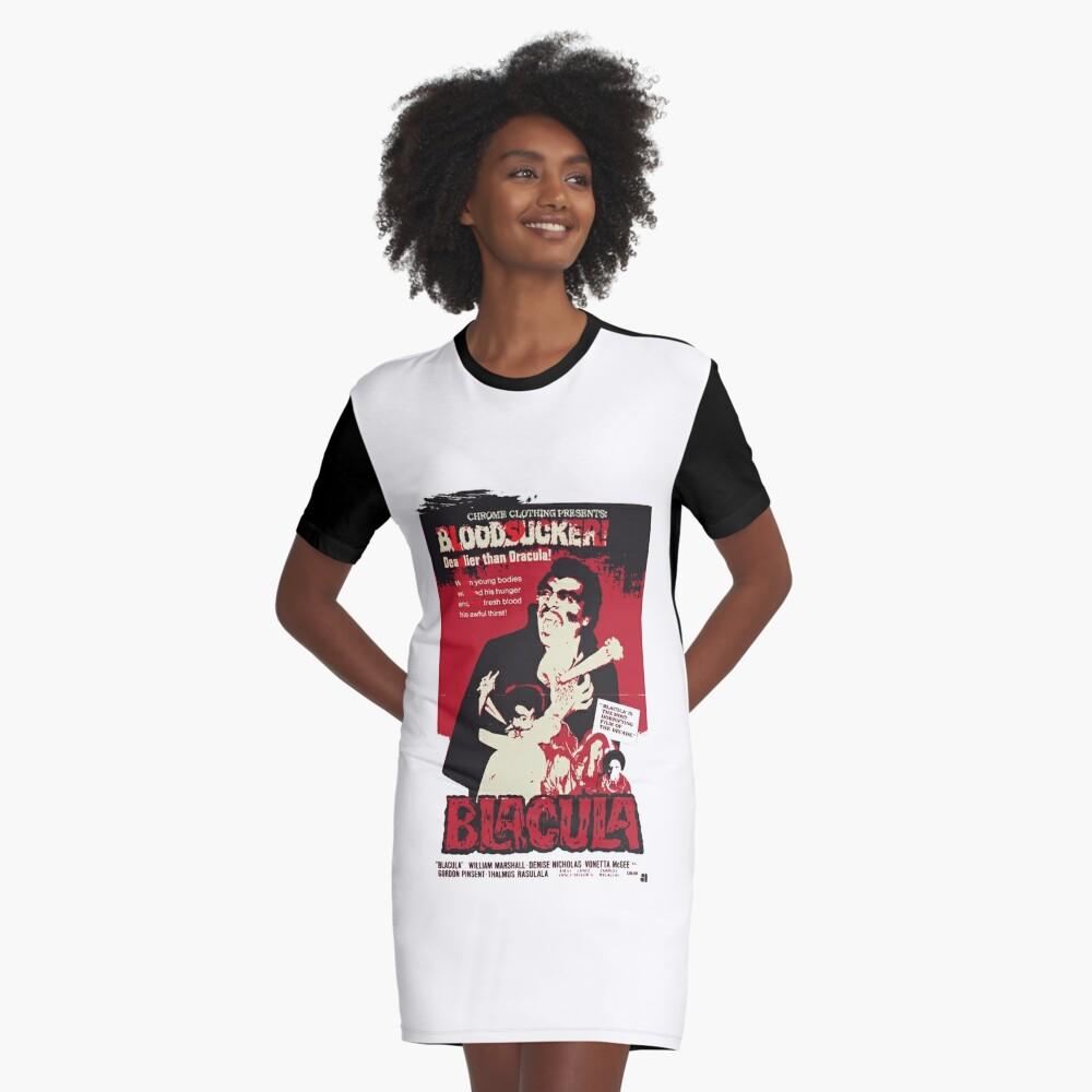 Blacula Graphic T-Shirt Dress Front