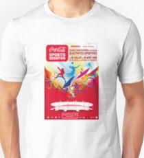 Vintage tshirt with image of coca cola soda Football volleyball canoe fencing olympics stadium Unisex T-Shirt