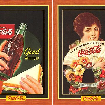 Vintage tshirt with image of coca cola soda woman girl fast food mother beer by aybsonjunior