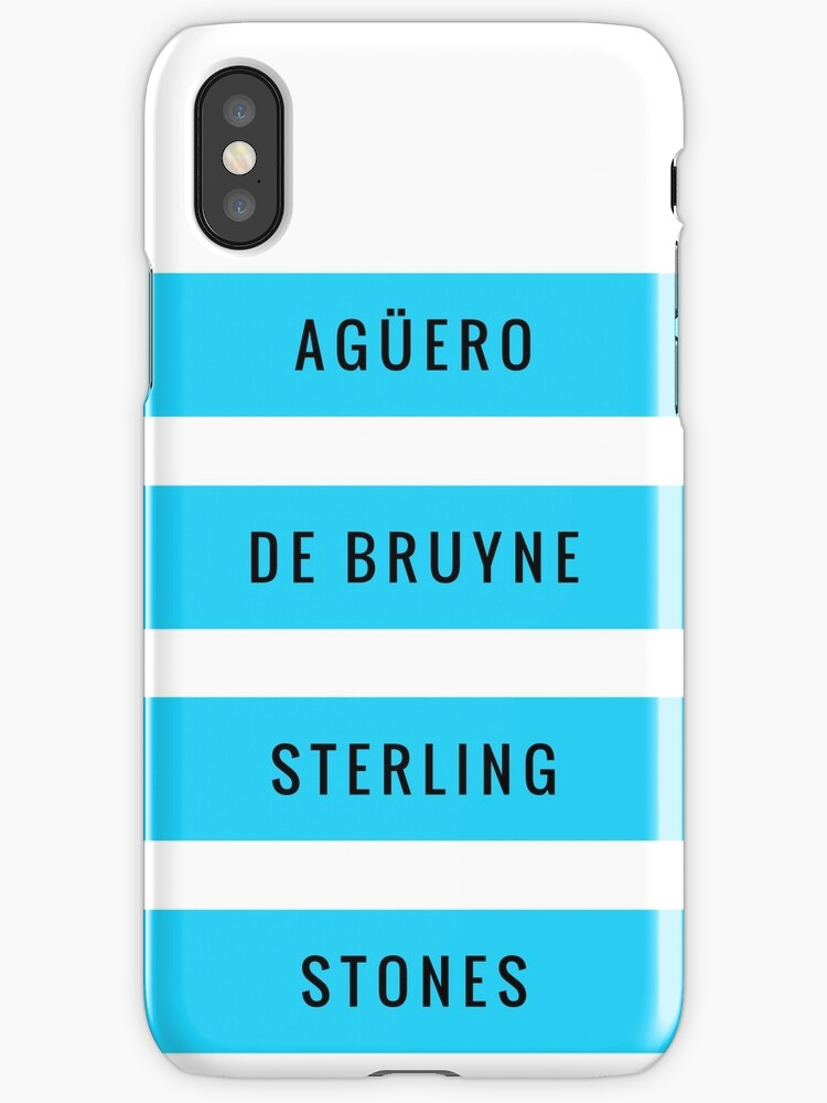 Manchester City - Aguero De Bruyne Sterling Stones (T-Shirt, Phone Case & more) by RighteousHD