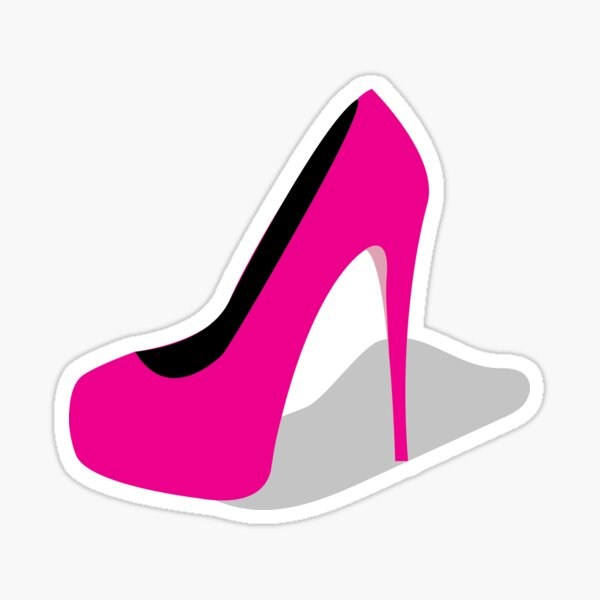 Pink High Heel Shoe Sticker