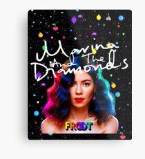 Lámina metálica Marina y los Diamantes Froot