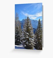 Snowy Trees on Monte Lussari  Greeting Card