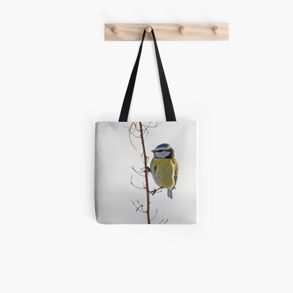 Blue Tit in winter Tote Bag