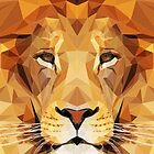 Lion low poly by awesomedsign