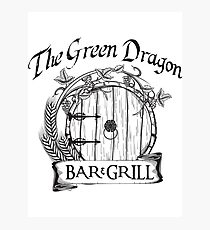The Hobbit Green Dragon Bar & Grill Shirt T-Shirt Photographic Print