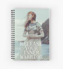 Release Your Inner Warrior Spiral Notebook