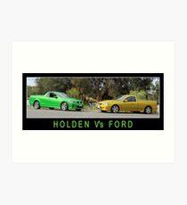 Holden Vs Ford Art Print