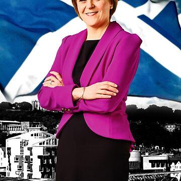 Saltire Sturgeon by Hughbris