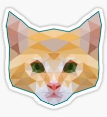 Cute Funny Cat Graphic Low Poly Geometric Art Design Tshirt  Sticker