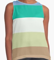 Vintage Color Art Print Stripes Contrast Tank